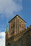 High Gdansk church tower Royalty Free Stock Photos