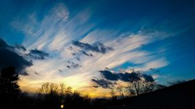Cirrus Clouds. High cirrus clouds royalty free stock images