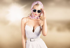 High class female fashion model with grace Stock Photography