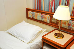 High class single bed room Royalty Free Stock Photography