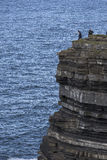 High cliff fishing Stock Photography