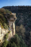 High Cliff. In a little valley in Spain, this canyon can be found just 1h away from Barcelona Stock Photo