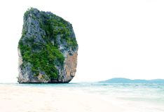 High cliff on Poda island Stock Photography