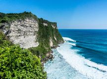 High Cliff at Uluwatu Temple Stock Image
