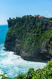 High Cliff at Uluwatu Temple Royalty Free Stock Photo