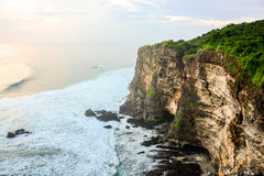 High Cliff at Uluwatu Temple, Bali, Indonesia Royalty Free Stock Photo