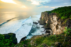High Cliff at Uluwatu Temple, Bali, Indonesia Royalty Free Stock Images