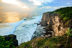 High Cliff at Uluwatu Temple, Bali, Indonesia Stock Photography