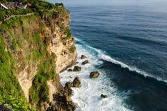 High Cliff at Uluwatu Temple, Bali, Indonesia Stock Photography