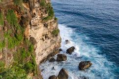 High Cliff at Uluwatu Temple, Bali, Indonesia Royalty Free Stock Photo