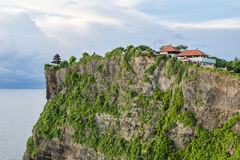 High Cliff at Uluwatu Temple, Bali, Indonesia Royalty Free Stock Photography
