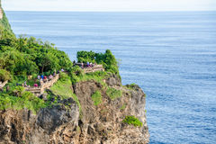 High Cliff at Uluwatu Temple, Bali, Indonesia Royalty Free Stock Image