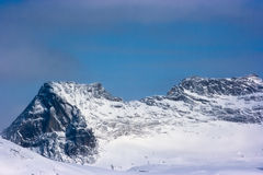 High cliff in winter Stock Photography