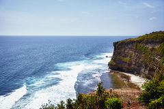 High cliffs in Bali, Indonesia Royalty Free Stock Photos