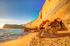 The high cliffs of Gibson Steps, Australia Stock Image