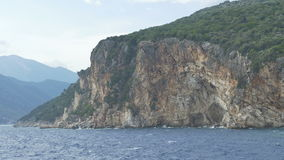 High Cliffs Ionian Island stock footage