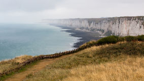High cliffs. Normady, France Stock Photos