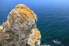 High cliffs at the sea Royalty Free Stock Photography