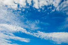 High Cloud. Clouds scattered over the blue sky Royalty Free Stock Photos