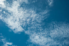High Cloud. Clouds scattered over the blue sky Stock Image