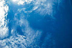 High Cloud. Clouds scattered over the blue sky Stock Photo