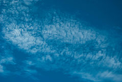 High Cloud. White clouds float in the sky Stock Images