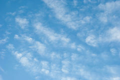 High Cloud. White clouds float in the sky Stock Photos