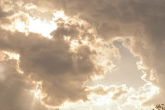 High Cloud. White clouds float in the sky Stock Photography