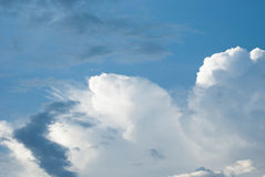 High Cloud. White clouds float in the sky Royalty Free Stock Image
