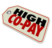 High Co-Pay Insurance Deductible Expensive Health Care Royalty Free Stock Photos