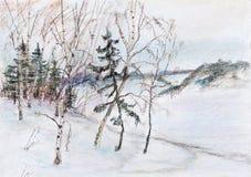 High coast of the river Volga Stock Image