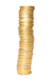 High column of coins Stock Photography