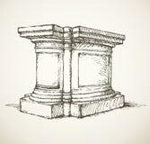 High column. Vector drawing Stock Photo