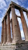 High columns of a greek temple Royalty Free Stock Image