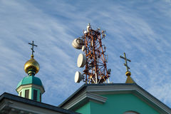 High communication tower Royalty Free Stock Images
