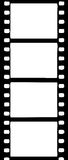 High Contast film strip border. Illustration of strip of film containing four frame hole Stock Images