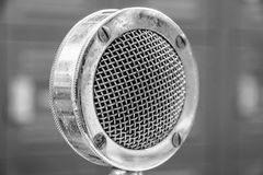 High contrast Antique Vintage Microphone with Grille I Royalty Free Stock Photo