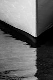 High Contrast of Boat Bow in Water Royalty Free Stock Photos
