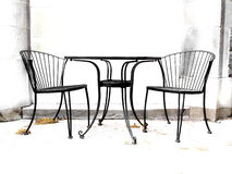 High contrast chairs. Patio chairs Stock Photo