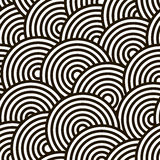 High contrast circles seamless pattern Royalty Free Stock Image