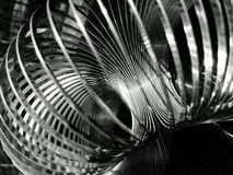 High Contrast Circular Helix. High contrast monochrome close-up of a circular helix spring Stock Images