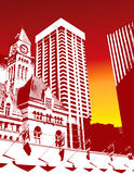 High Contrast City Background Stock Images