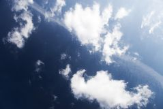 High contrast clouds Stock Image