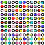 High contrast colored dots on white Stock Images
