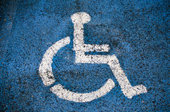 High contrast disabled sign Stock Photos
