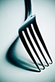 High contrast fork. High contrast close-up of a fork with defined shadows Stock Image