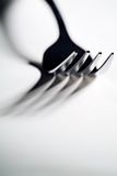High contrast fork. High contrast close-up of a fork with defined shadows Stock Images