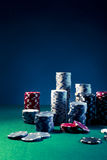 High contrast image of Casino chips Royalty Free Stock Photo