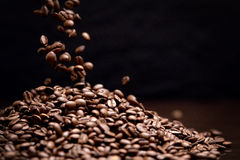 High contrast image of coffee beans. Royalty Free Stock Photography