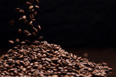 High contrast image of coffee beans. Royalty Free Stock Photo